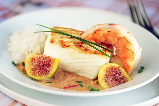 Post image for Halibut with Fig & Ginger Sauce