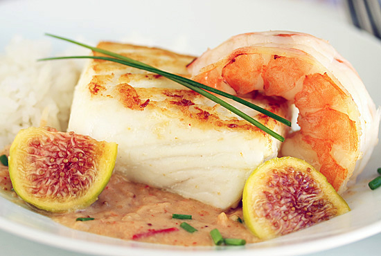 Halibut with Fig & Ginger Sauce 5.1