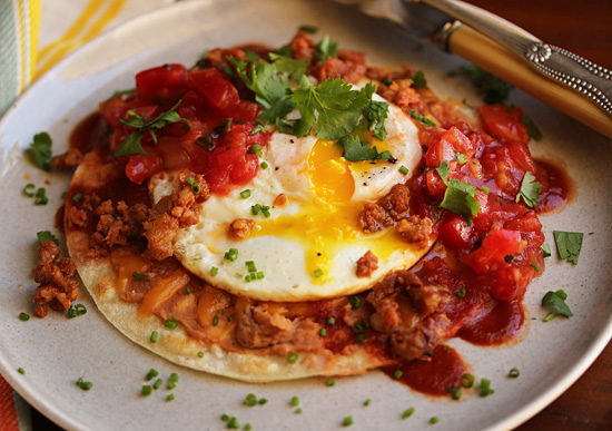 Yum! Huevos Rancheros that won't kill your meal plan