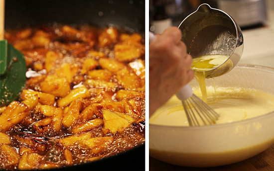 Hawaiian Custard Cake with Carmelized Pineaple Sauce 2