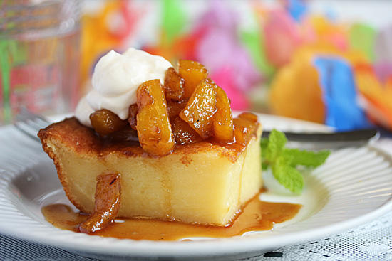 Hawaiian Custard Cake with Carmelized Pineaple Sauce 5