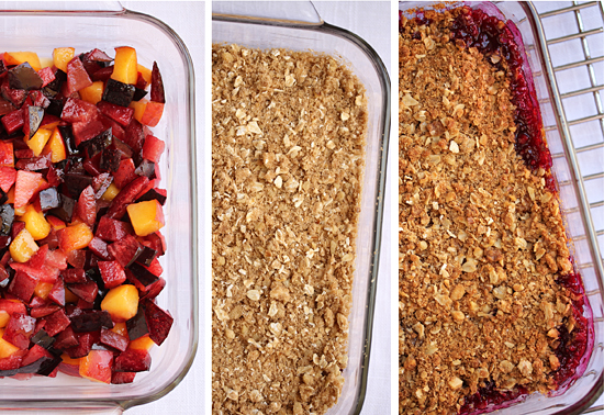 Nectarine-Raspberry Crisp With Spiced-Oatmeal Crumb Topping Recipes ...