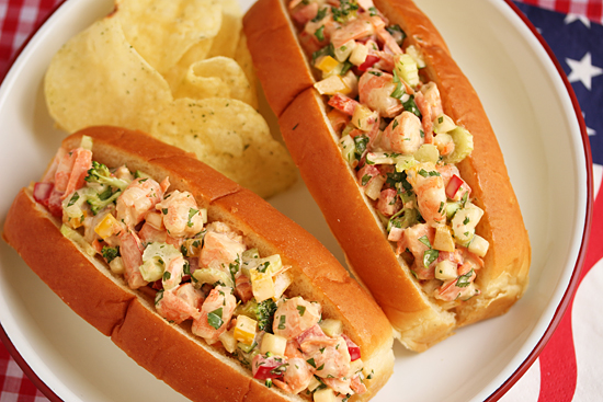 Shrimp Salad Sandwich with Spicy Lime Aioli 3