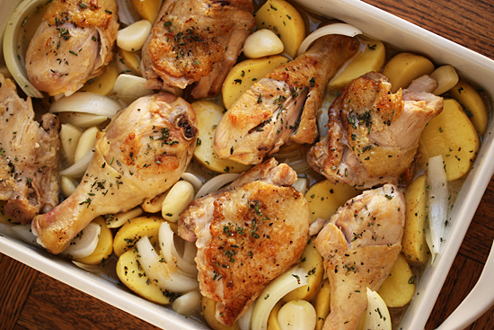 Baked Chicken with Sauce Soubise 2