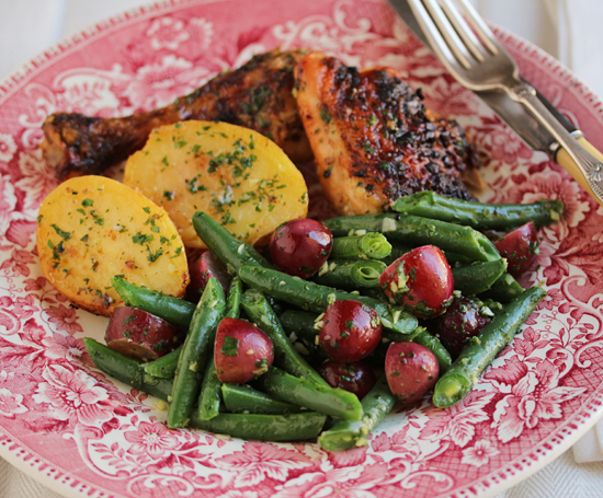 Green Beans & Grapes with Persillade 1