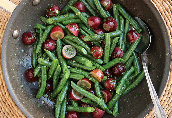 Green Beans & Grapes with Persillade 3