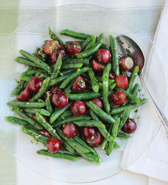 Green Beans & Grapes with Persillade 4