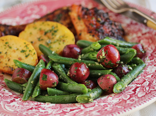 Green Beans & Grapes with Persillade 6.1