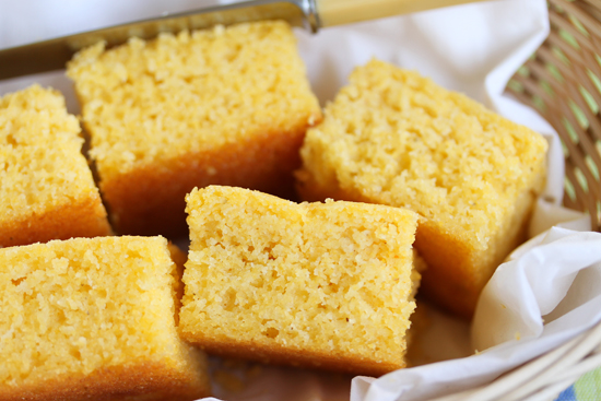 Cornbread ~ Soft, Sweet and Buttery