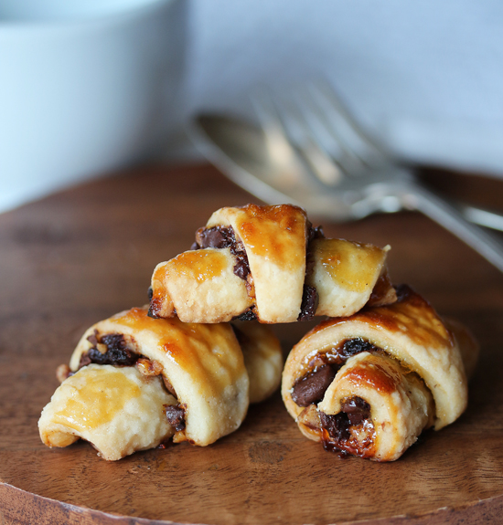 Post image for Chocolate Pecan Rugelach with Apricot Preserves