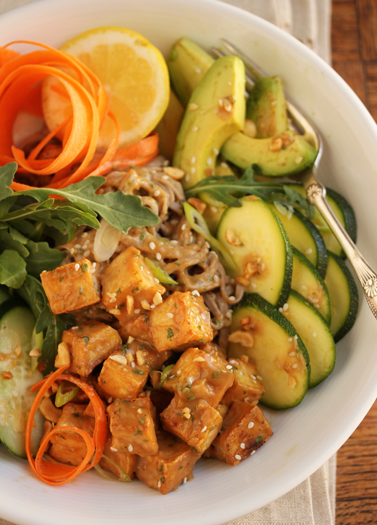 Post image for Tofu & Soba Salad with Peanut Sauce