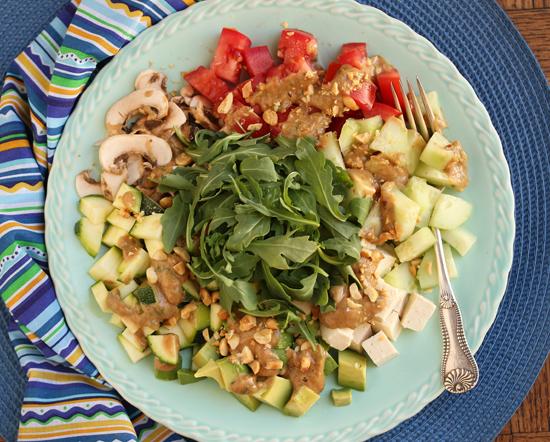 Tofu Soba  Salad with Peanut Sauce 2
