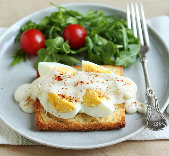 Hardboiled Egg with Bechemel Sauce 4