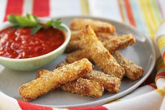 Parmesan Panko Zucchini Fries 1