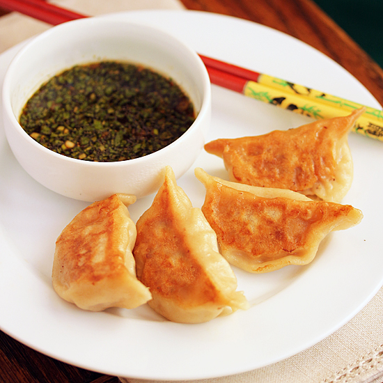Post image for Pork Pot-Stickers with Lemon Soy Ginger Sauce