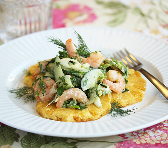 Post image for Brunch Roasted Shrimp & Pineapple Salad from Grace-Marie's Kitchen and A 20 Year Anniversary