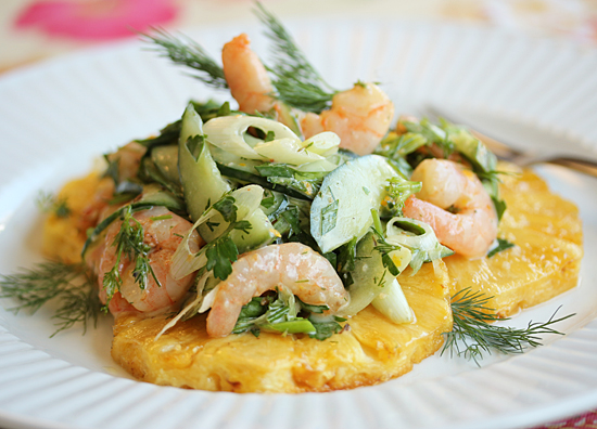 Roasted Shrimp and Pineapple Salad 4