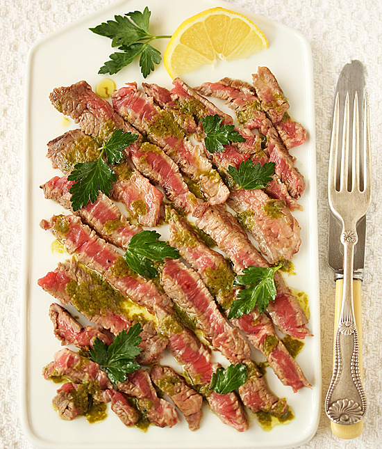 Post image for Rib-Eye Carpaccio with Salmoriglio Oregano Sauce