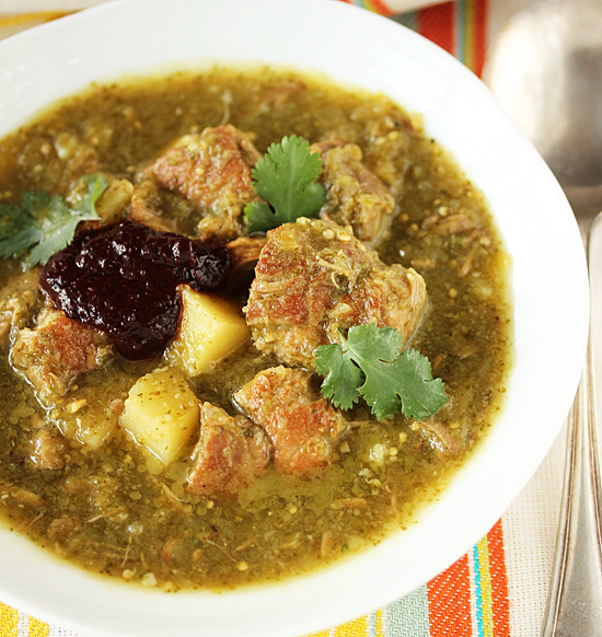 Post image for Chile Verde with Pork & Ancho Chile Sauce