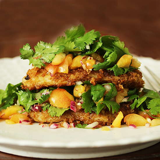 Chipotle Swai with Rainier Cherry Salsa fg