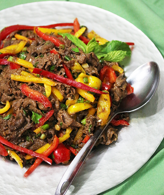 Post image for Thai Beef Salad from Patricia Rose at Fresh Food in a Flash Cooking Class
