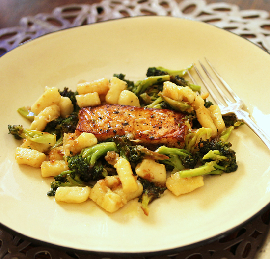 Post image for Ricotta Parmesan Gnocchi & Brown Butter Broccoli