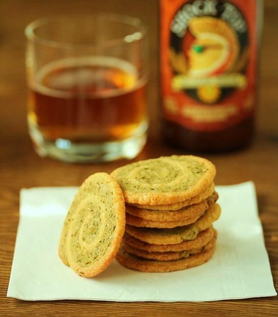 Cheddar Garlic Crackers 6