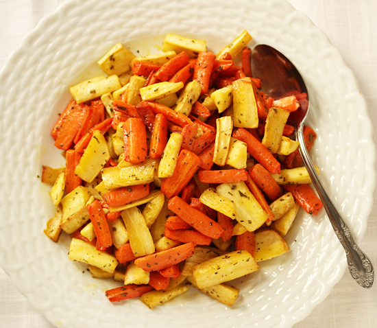 Roasted carrots & Parsnips 2