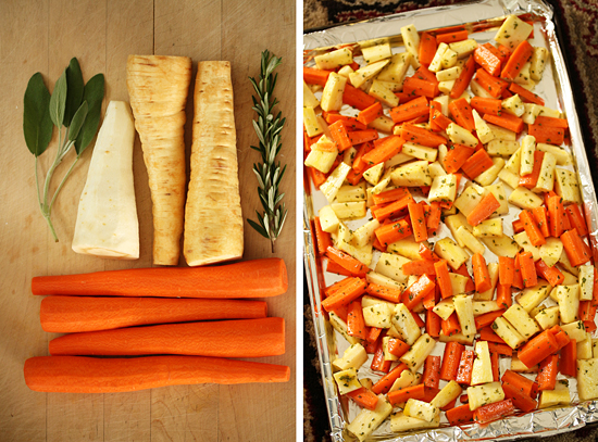 Roasted carrots & Parsnips 3