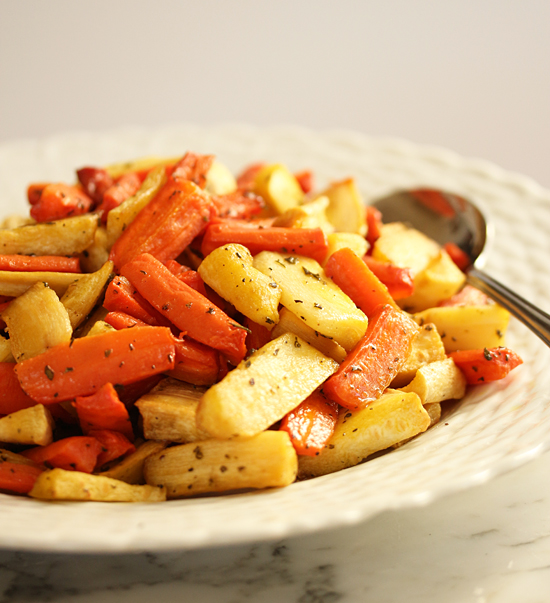 Post image for Roasted Carrots & Parsnips