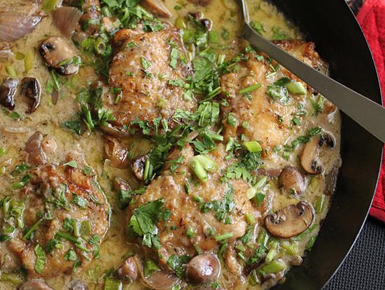 Riesling Chicken & Mushroom Casserole