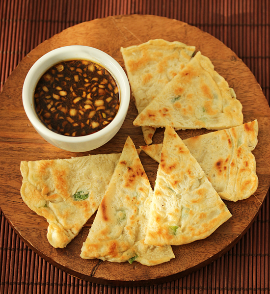 Scallion Pancakes Korean-Style with Lemon Soy Dipping Sauce