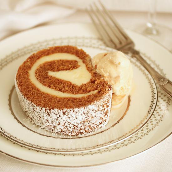 Pumpkin Roll Cake w Cream Cheese Filling 1