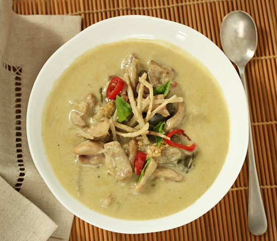 Green Curry with Chicken & Thai Eggplant 1