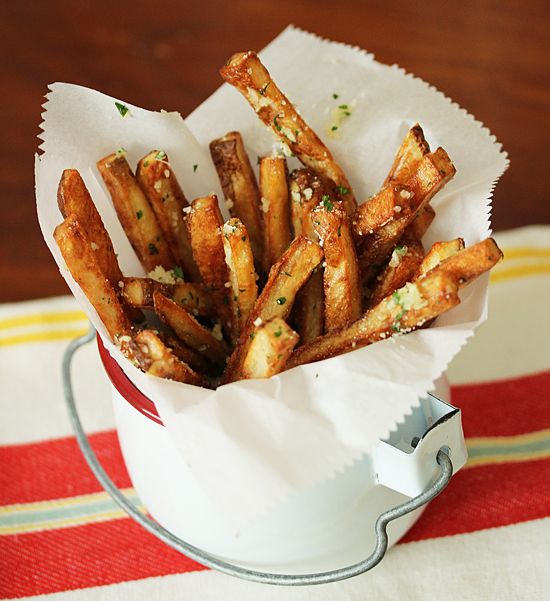 4 Oven Roasted Fries with Garlic Butter & Parmesan