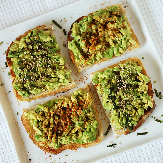 Post image for Avocado Toast with Furikake and Shichimi
